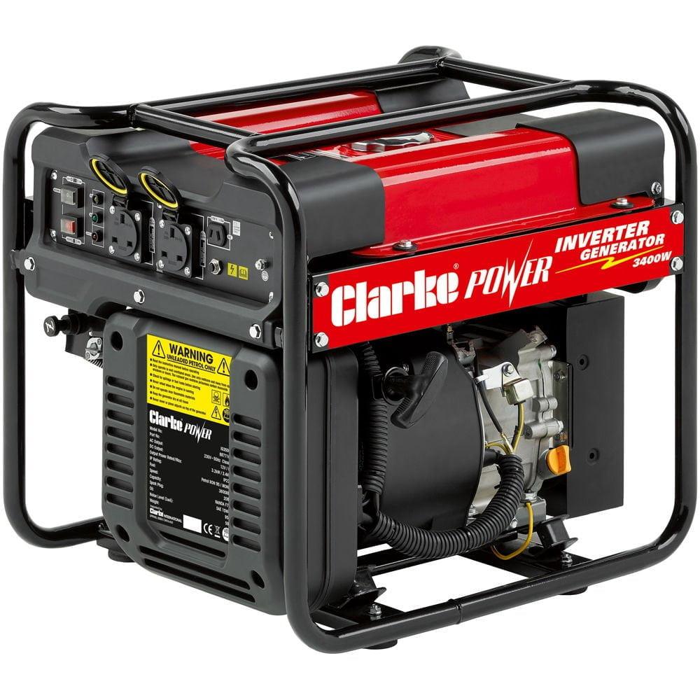 Clarke IG3500F 3.4kW Open Frame Inverter Generator 230 volt and 12 volt